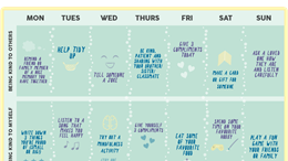 Seven days of kindness calendar