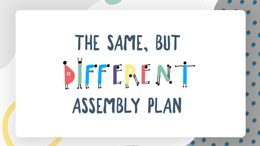 The same but different: assembly plan
